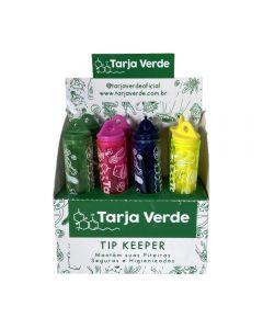 Caixa de Porta-Piteira de Vidro Tip Keeper Tarja Verde