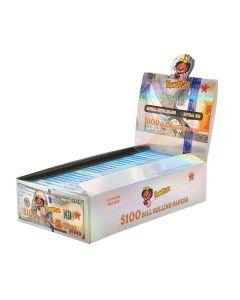 Caixa de Seda HoneyPuff Nota de 100 Dólares King Size com Piteiras