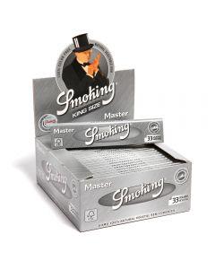 Caixa de Seda Smoking Prata King Size